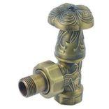 Вентиль Art Deco регулировочный угловой 1/2, c американкой (бронза)