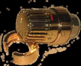 """1011468 Oventrop Термостат """"Uni LH"""" 7-28 °C, 0 * 1-5, позолоченный."""